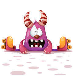 fanny cute roller skate characters vector image
