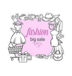 fashion shop banner vector image