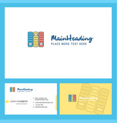 files logo design with tagline front and back vector image