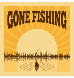 Fishing poster vector