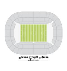 Floor plan of the johan cruyff arena in amsterdam vector