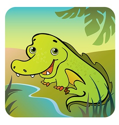 friendly crocodile vector image