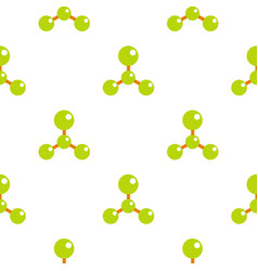Green molecule structure dna pattern flat vector