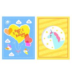 happy birthday festive posters vector image