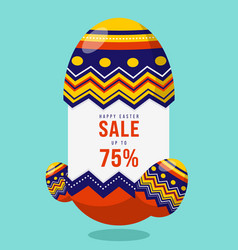 happy easter sale promotion banner and special vector image