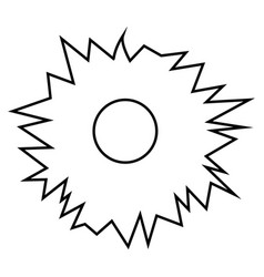 hole from shot icon black color flat style simple vector image