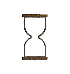 Hourglass antique clock vector