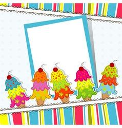 Ice Cream Card Template vector