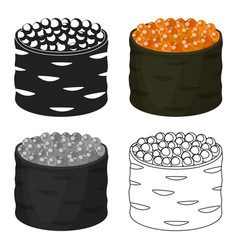 ikura gunkan-maki icon in cartoon style isolated vector image