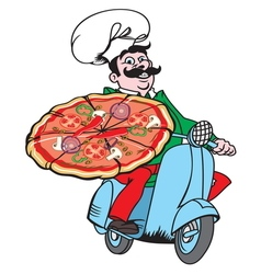 Italian pizza delivery1 resize vector image