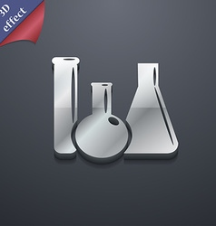 laboratory glass chemistry icon symbol 3D style vector image