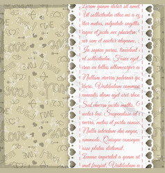 Light colored frill romantic pattern vector