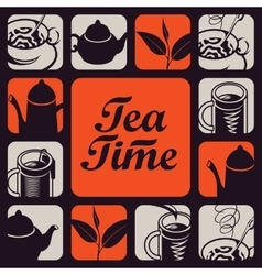 Logo for tea time vector