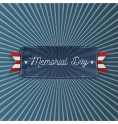 Memorial Day patriotic Banner with Text vector image