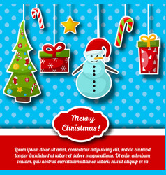 merry christmas congratulation decorative card vector image