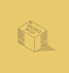 music box line art isometric vector image