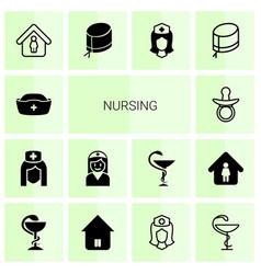 nursing icons vector image