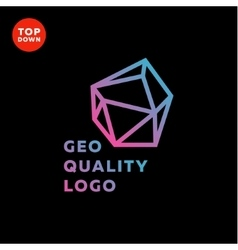 Outline gradient sign stone style trend in a line vector