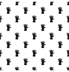 Palm up pattern simple style vector