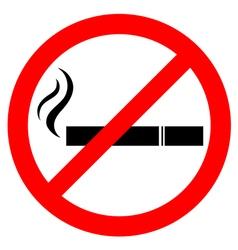 Prohibiting smoking sign vector image vector image