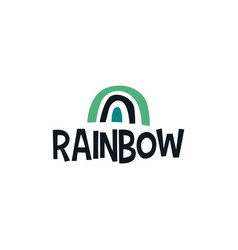 rainbow abstract shape logo icon vector image