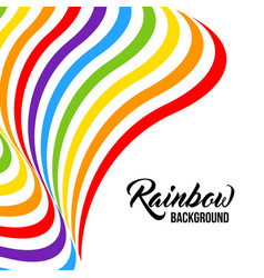 rainbow background lgbt colors vector image