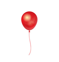 Realistic 3d red ballon isolated on white vector