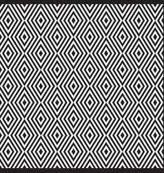 rhombus zigzag pattern vector image