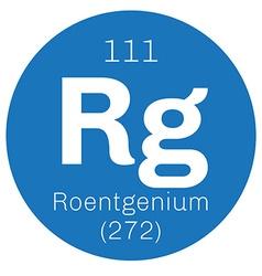 Roentgenium chemical element vector