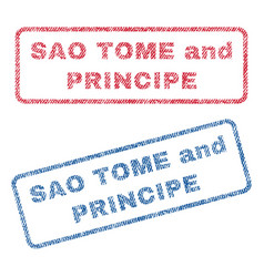 sao tome and principe textile stamps vector image