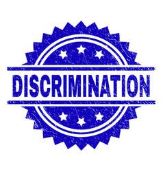 Scratched textured discrimination stamp seal vector