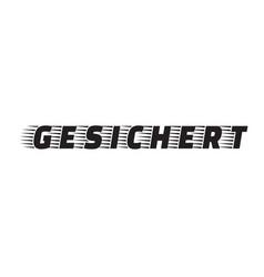 Secured stamp in german vector