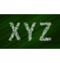 Set bokeh alphabet and symbols vector