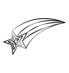 Shooting star doodle vector