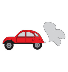 simple a red car on white background vector image