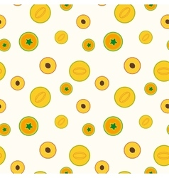 Simple fruits pattern - seamless vector
