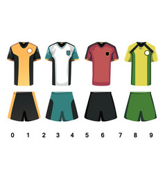 soccer jersey vector image