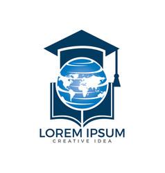 Student book logo design vector