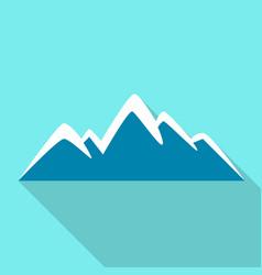 tourist mountain icon flat style vector image