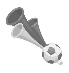 Trumpet football fanfans single icon in vector