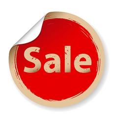 Vintage Red Label Sale vector image