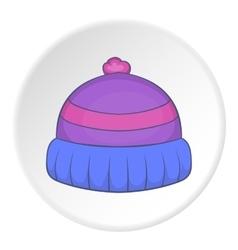 Winter hat icon cartoon style vector