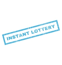 Instant Lottery Rubber Stamp vector image vector image