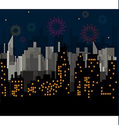 Night City celebrates vector image vector image
