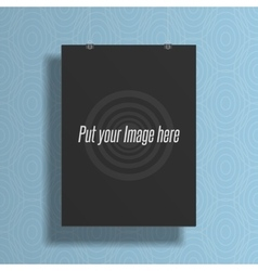 Realistic black blank mockup for your Design vector image