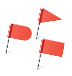red flag pins vector image vector image