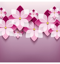 Floral trendy background with 3d flower sakura vector image vector image