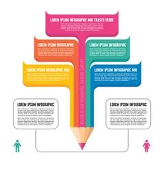 Infographic Concept - Creative Design - Pencil vector image