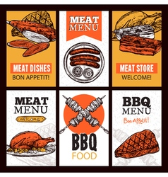 Meat Dishes Vertical Banners vector image