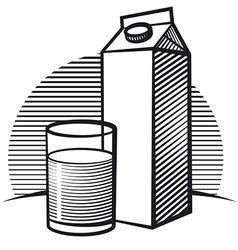 package of milk vector image